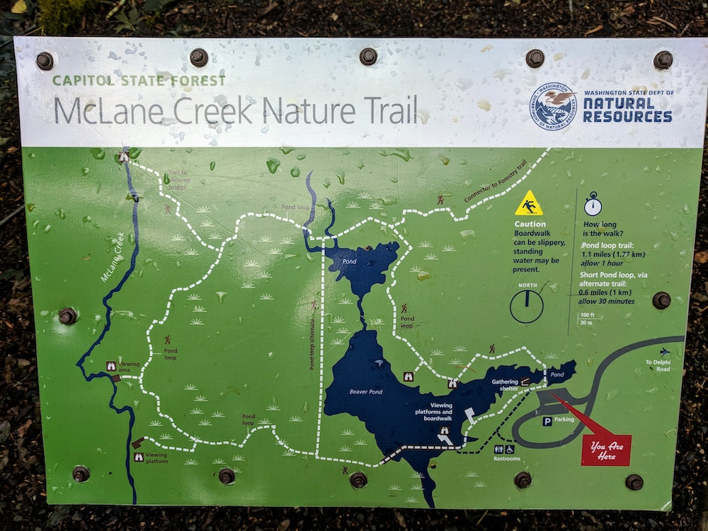 McLane Creek Nature Trail Map
